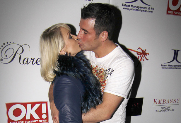 Joe Calzaghe and Kristina Rihanoff at the Christmas party held at Embassy nightclub. London, England