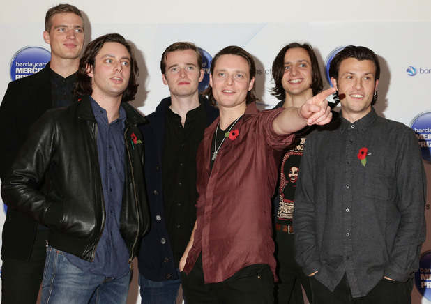 the Maccabees arriving for the Mercury Prize, at the Roundhouse in Camden, north London.