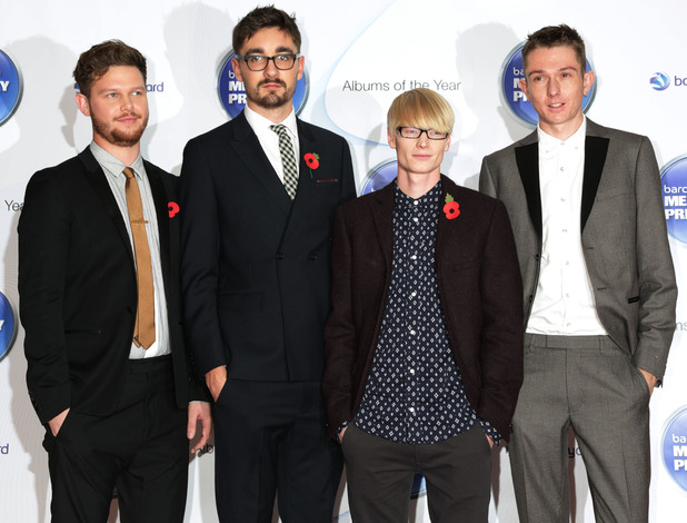 Alt-J arriving for the Mercury Prize, at the Roundhouse in Camden, north London.