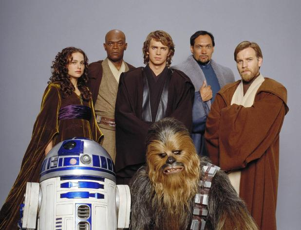 The Star Wars prequel cast strike a pose.