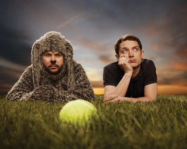Jason Gann and Elijah Wood in &#39;Wilfred&#39;
