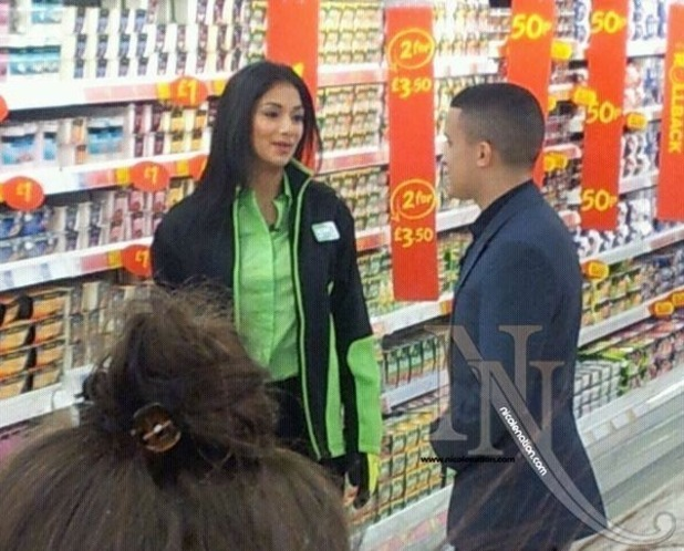 Nicole Scherzinger with Jahmene Douglas in Asda