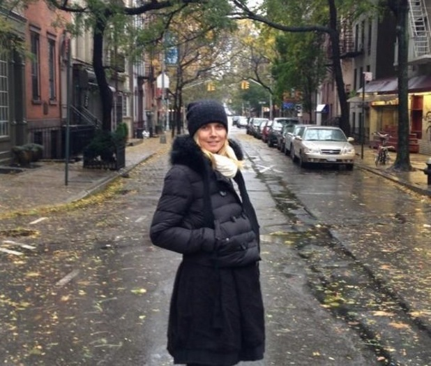 Heidi Klum posts photo from New York street after Hurricane Sandy.
