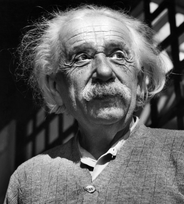 Portrait of Albert Einstein taken in Princeton, USA, in June 1954.