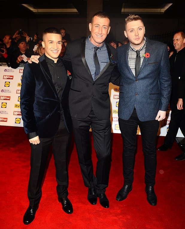 Jahmene Douglas, Christopher Maloney and James Arthur