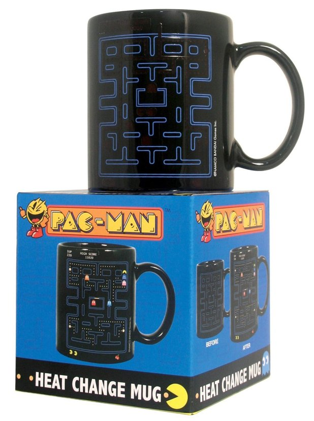 Pac-Man heated mug