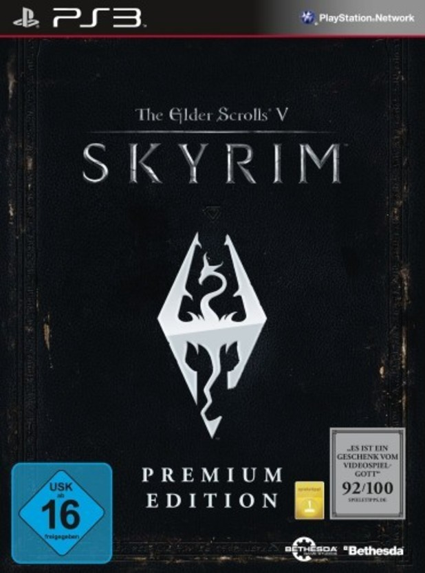 'Skyrim' premium edition cover art