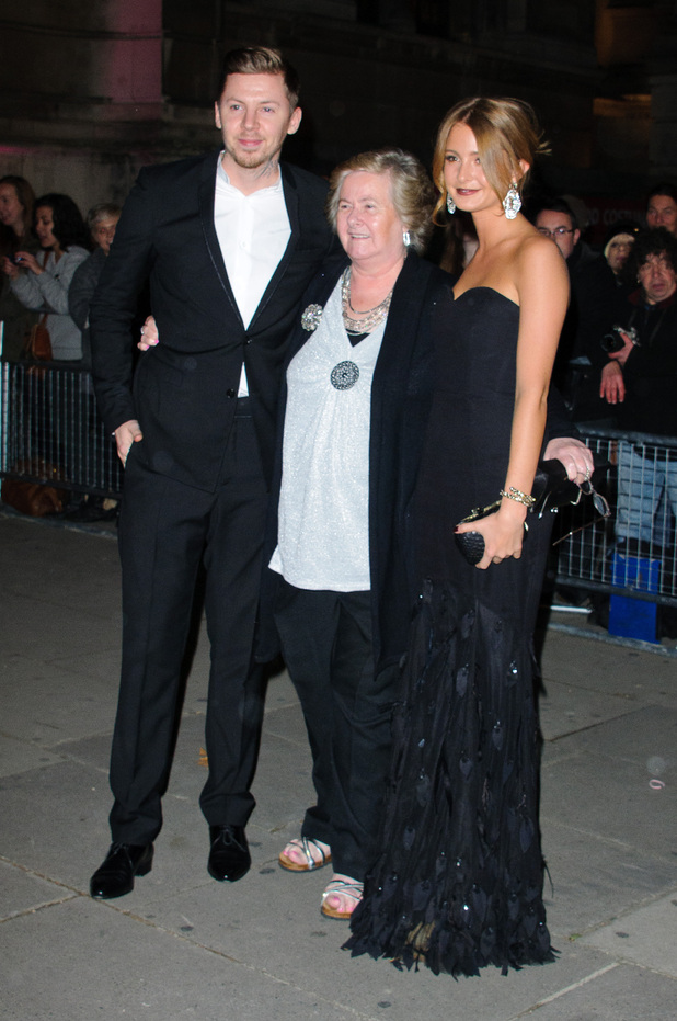 Professor Green, his grandmother Patrice and Millie Mackintosh