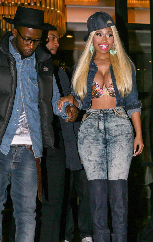 Nicki Minaj leaving her hotel in London