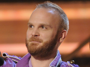 Will Champion, of Coldplay accept the award for song of the year for &quot;Viva La Vida&quot;  at the 51st Annual Grammy Awards on Sunday, Feb. 8, 2009, in Los Angeles.