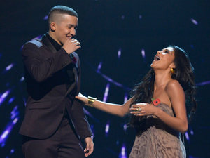The X Factor Results Show: Jahmene learns he is through to next week.