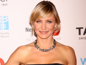 Cameron Diaz helps raise money for UN Women and New York Cares' Hurricane Sandy Relief Effort.