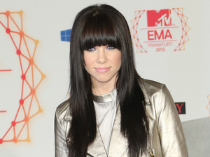 Carly Rae Jepsen at the photocall for MTV's European Music Awards.