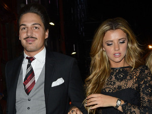 Celebrities attend an ITV2 dinner party at the W Hotel in London: Mario Falcone and Lucy Mecklenburgh