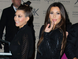 Kardashian Kollection for Dorothy Perkins launch party at Aqua: Kourtney Kardashian and Kim Kardashian Kardashian