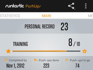 'runtastic PushUps PRO' app screenshot