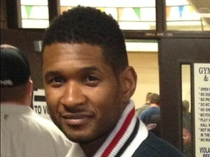 Usher votes in US election