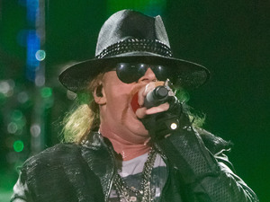 Axl Rose of Guns N'Roses performing live in concert at the Capital FM Arena Nottingham, England