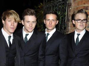 Dougie Poynter, Danny Jones, Harry Judd and Tom Fletcher McFly arrive to speak at The Oxford Union Oxford, England - 05.11.12 Credit: (Mandatory) WENN.com