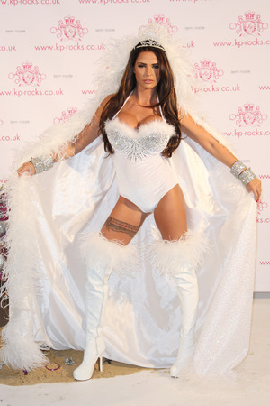 Katie Price aka Jordan launches KP Rocks at the Worx studios London, England