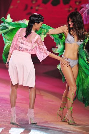Rihanna, Rihanna and Behati Prinsloo, Victoria's Secret Fashion Show, Lexington Armory, New York