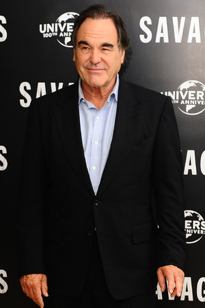 Oliver Stone attending a photocall for new film Savages at the Mandarin Hotel, London.