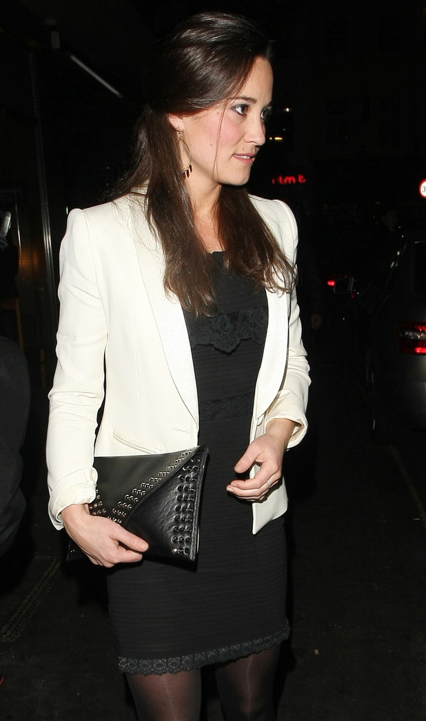 Pippa Middleton leaves Roka restaurant in London
