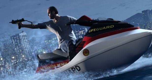 GTA 5 Shortlist teaser: man on a jetski