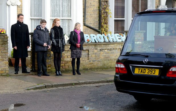 Derek's funeral episode in EastEnders