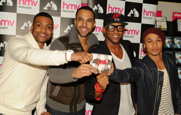 JLS promote and sign copies of their fourth studio album 'Evolution' at HMV Fort Dunlop.