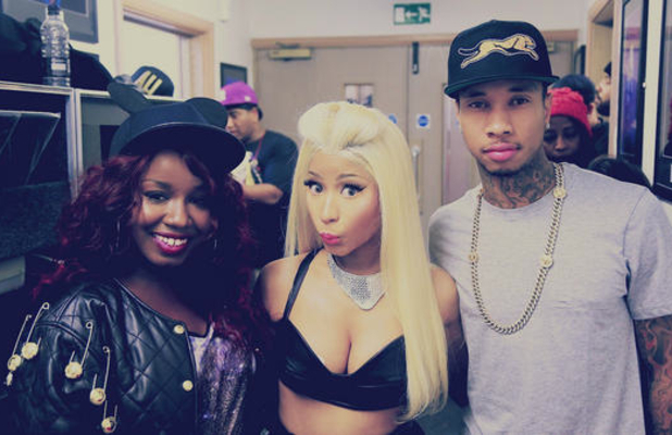 Mischa B supports Nicki Minaj on tour with rapper Tyga