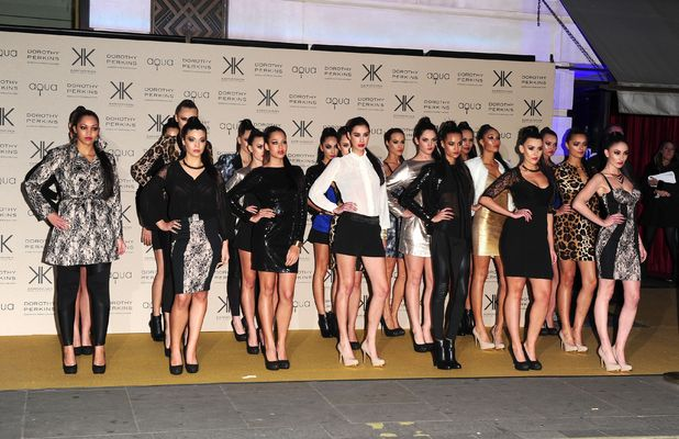 Models wearing the collection at a party to celebrate the UK launch of the Kardashian Kollection at Aqua, London.