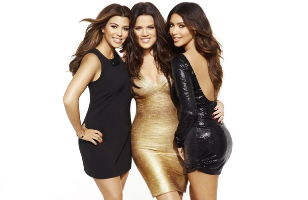 Kim, Kourtney and Khloe Kardashian in Cosmopolitan.