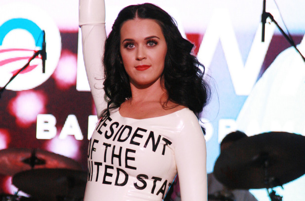 "Katy Perry performs at the ""America Forward"" Grassroots Event with President Obama at Doolittle Park Las Vegas, USA - 24.10.12 Credit: WENN.com"