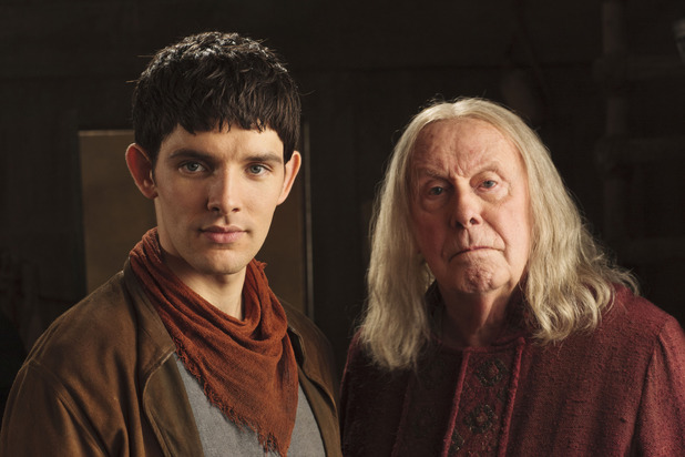 Merlin S05E07 - &#39;A Lesson In Vengeance&#39;: Merlin (COLIN MORGAN), Gaius (RICHARD WILSON )