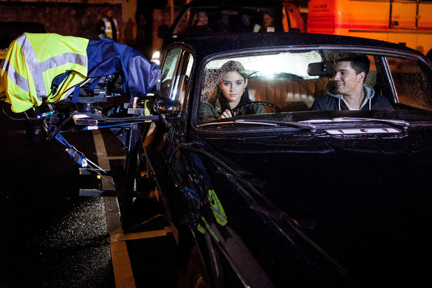EastEnders Episode 4536: Jacqueline and David film the beginning of the crash.