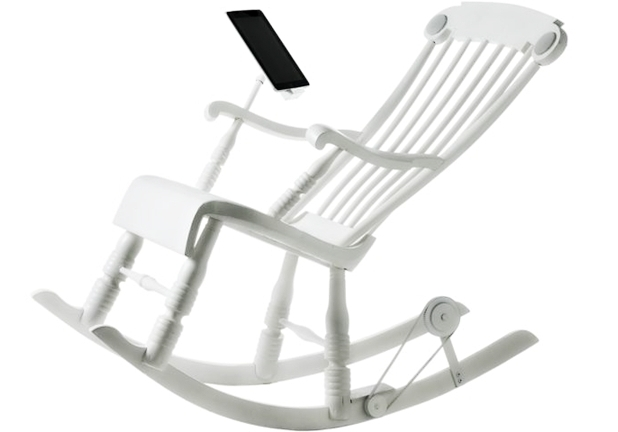 iRock rocking chair for iPad.