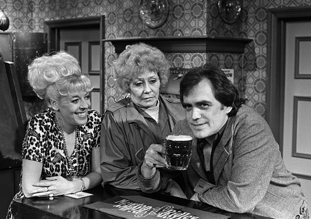 Julie Goodyear, Liz Dawn and Bill Tarmey