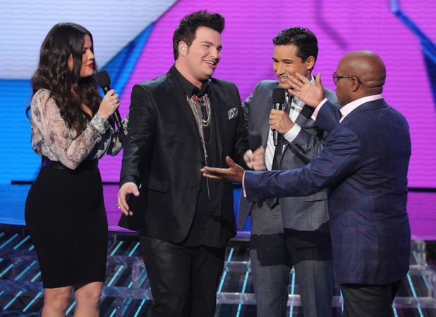 The X Factor USA: LA Reid goes to hug his eliminated contestant Jason Brock