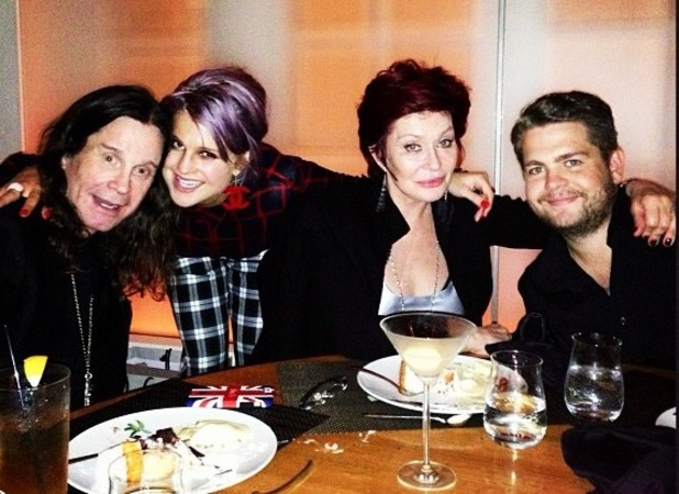 The Osbournes - Ozzy, Kelly, Sharon and Jack 08.11.12