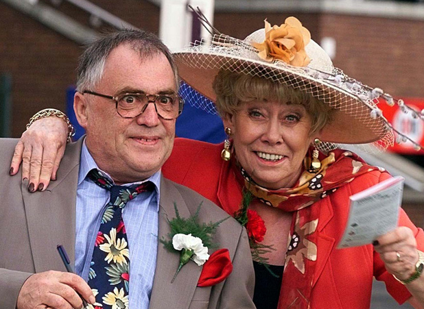 File photo dated 02/07/99 of former Coronation Street stars, Liz Dawn and Bill Tarmey, who played Jack and Vera Duckworth for many years, as Bill Tarmey died this morning, a spokeswoman for the show said.
