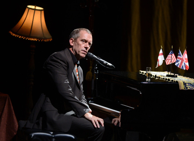 Hugh Laurie performing on stage at Hammersmith Apollo London, England