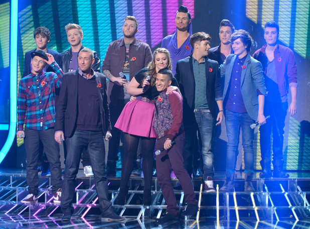 The X Factor Results Show: The remaining contestants perform the group number.