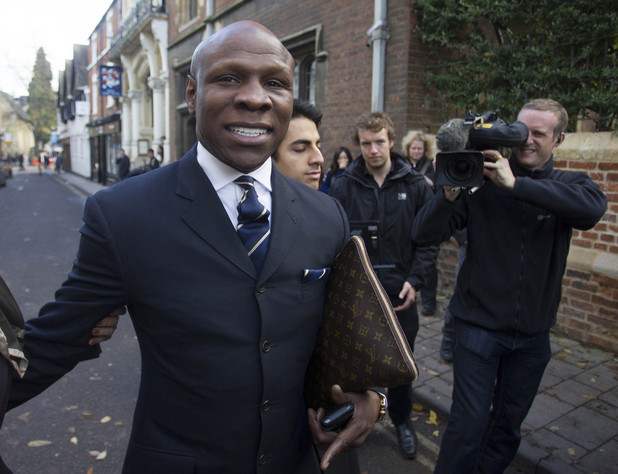 Chris Eubank turns up to watch Psy at the Oxford Union