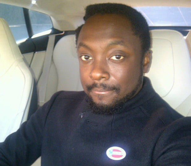 will.i.am casts his vote in the US presidential election