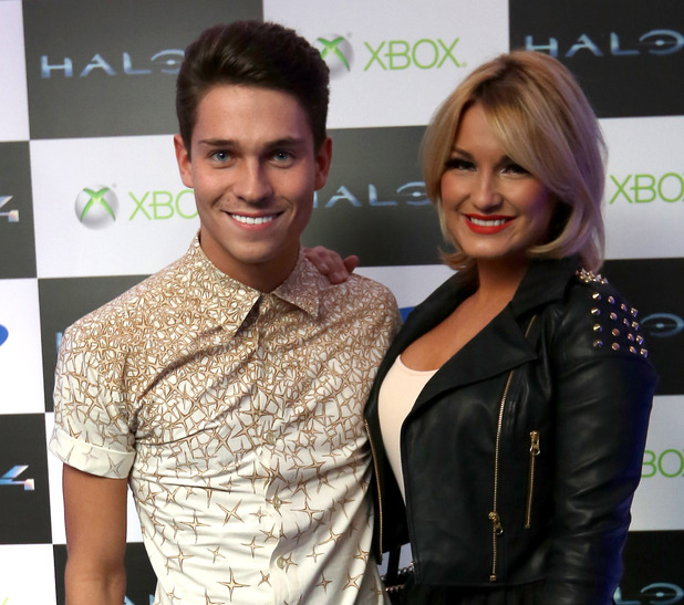 Joey Essex and Sam Faiers at the 'Halo 4' launch event.