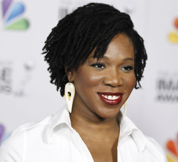 India Arie arrives at the 43rd NAACP Image Awards on Friday, Feb. 17, 2012, in Los Angeles.