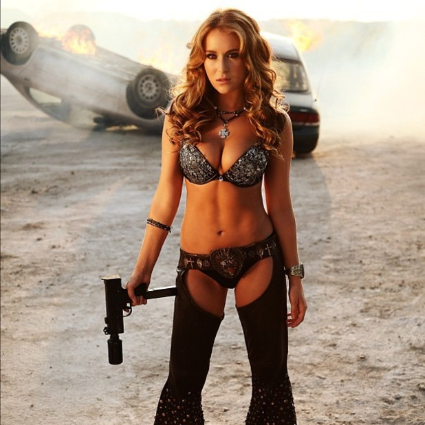 Alexa Varga in Machete Kills bikini