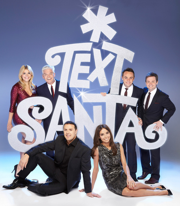 Text Santa hosts Holly Willoughby, Phillip Schofield, Ant & Dec, Christine Bleakley and Paddy McGuinness