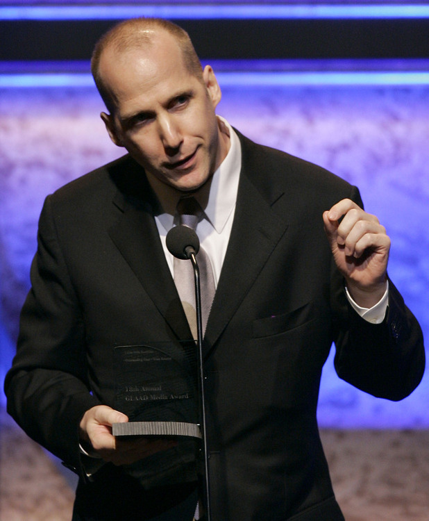"Writer Michael Arndt accepts the Outstanding FIlm-Wide Release award for ""Little Miss Sunshine"" onstage at the 18th Annual GLAAD Media Awards at the Kodak Theatre in Los Angeles (Pictured April 2007)"